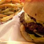 cheeseburger and garlic fries from Edzo's in Evanston